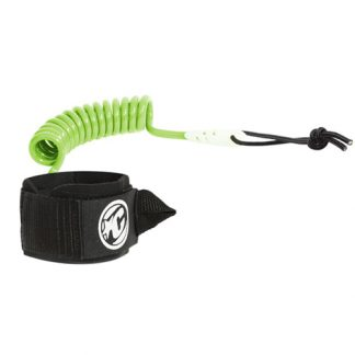 bodyboard leash coiled limoen