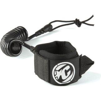 coiled wrist leash black