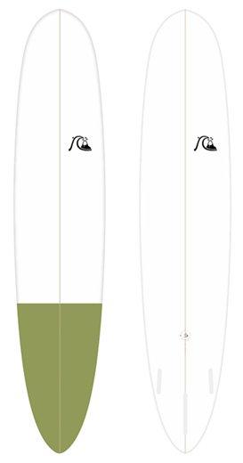 quiksilver epoxy longboard long log 9'1